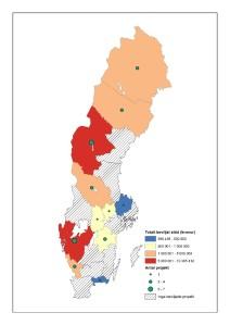 Karta över beviljade projekt inom andra åtgärder i landsbygdsprogrammet